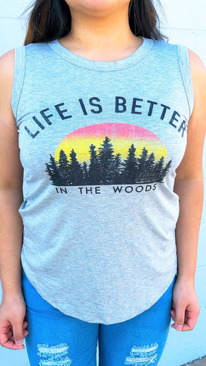 Life's Better Graphic Muscle Tee