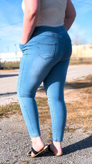 High Waist Jegging (Plus)