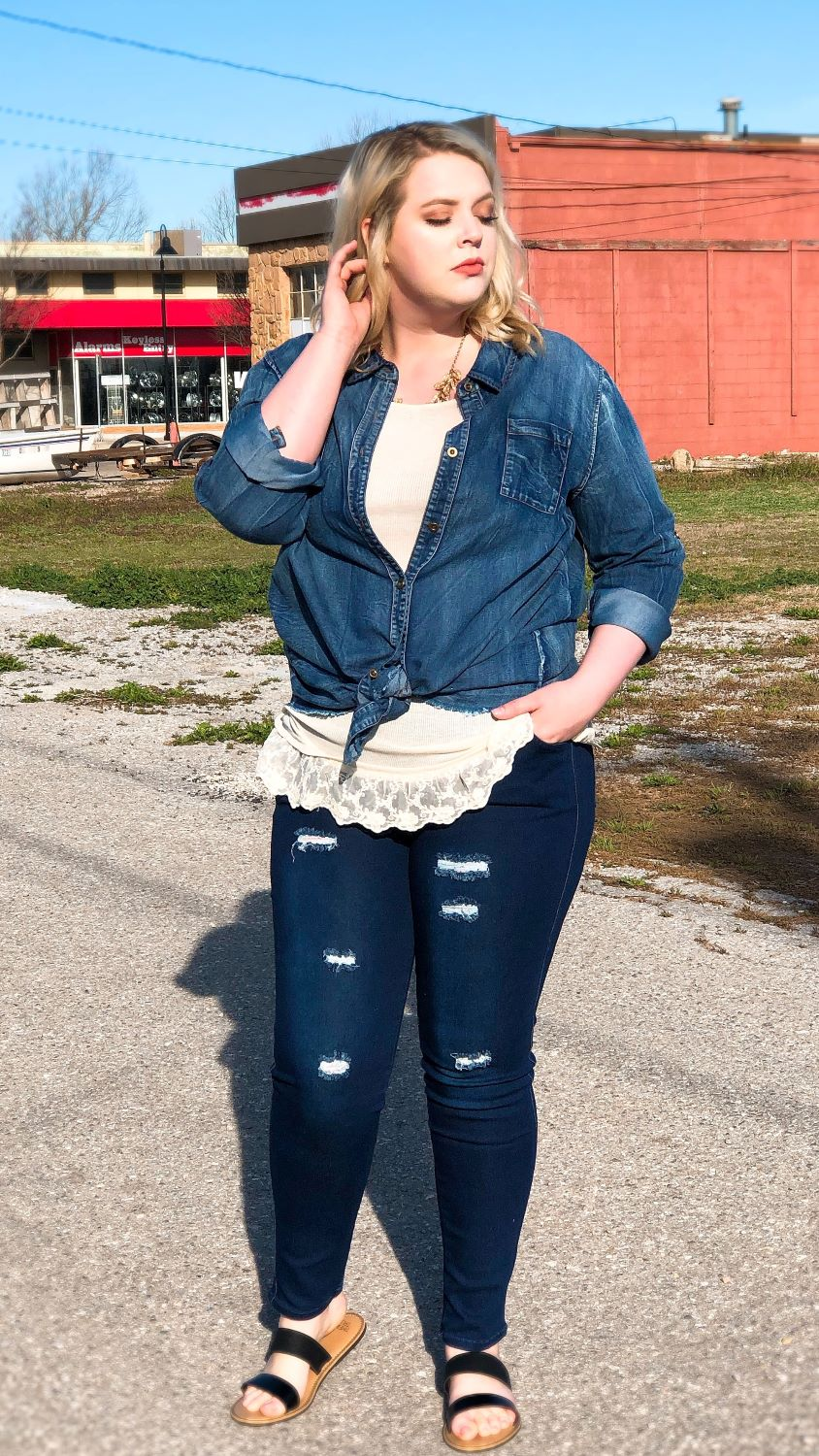 plus size fall transition tops