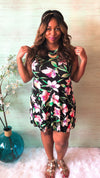 Tropical Floral Sleeveless Dress