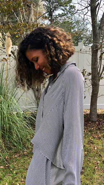 Easy Stripes Double-Layer Top