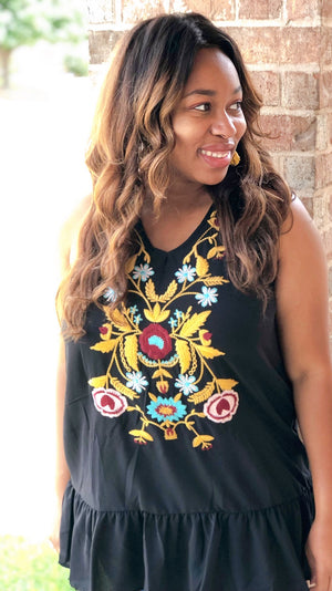 bohemian summer embroidered tops