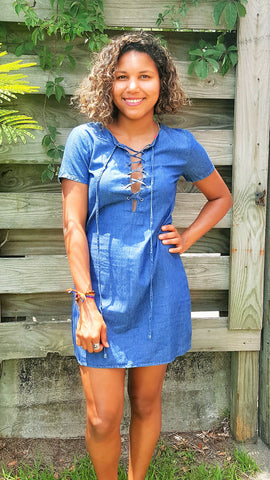 Life's A Picnic Chambray Dress