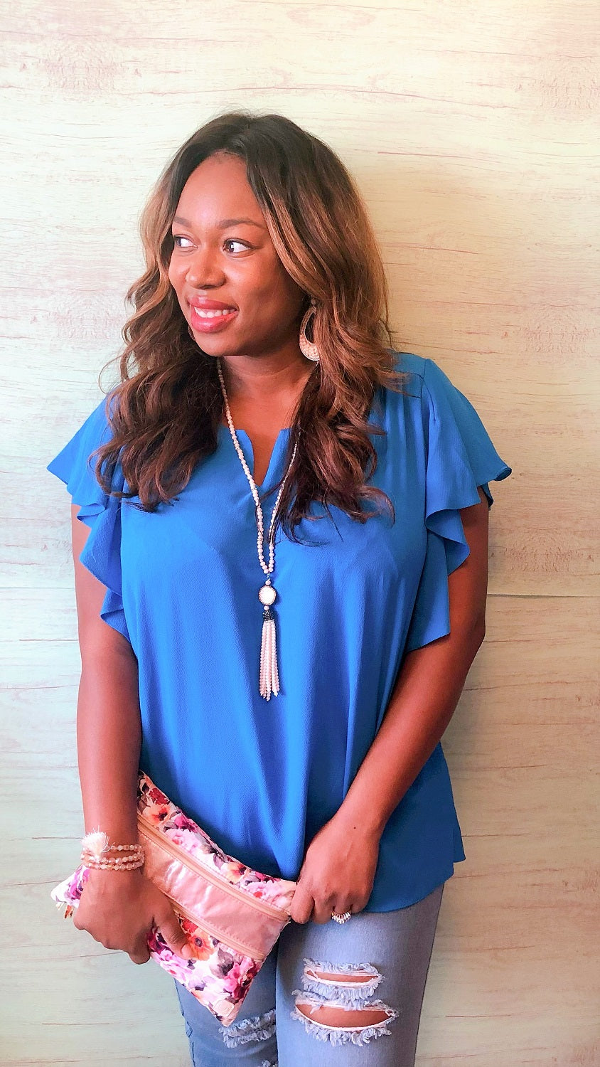 plus size blue summer tops