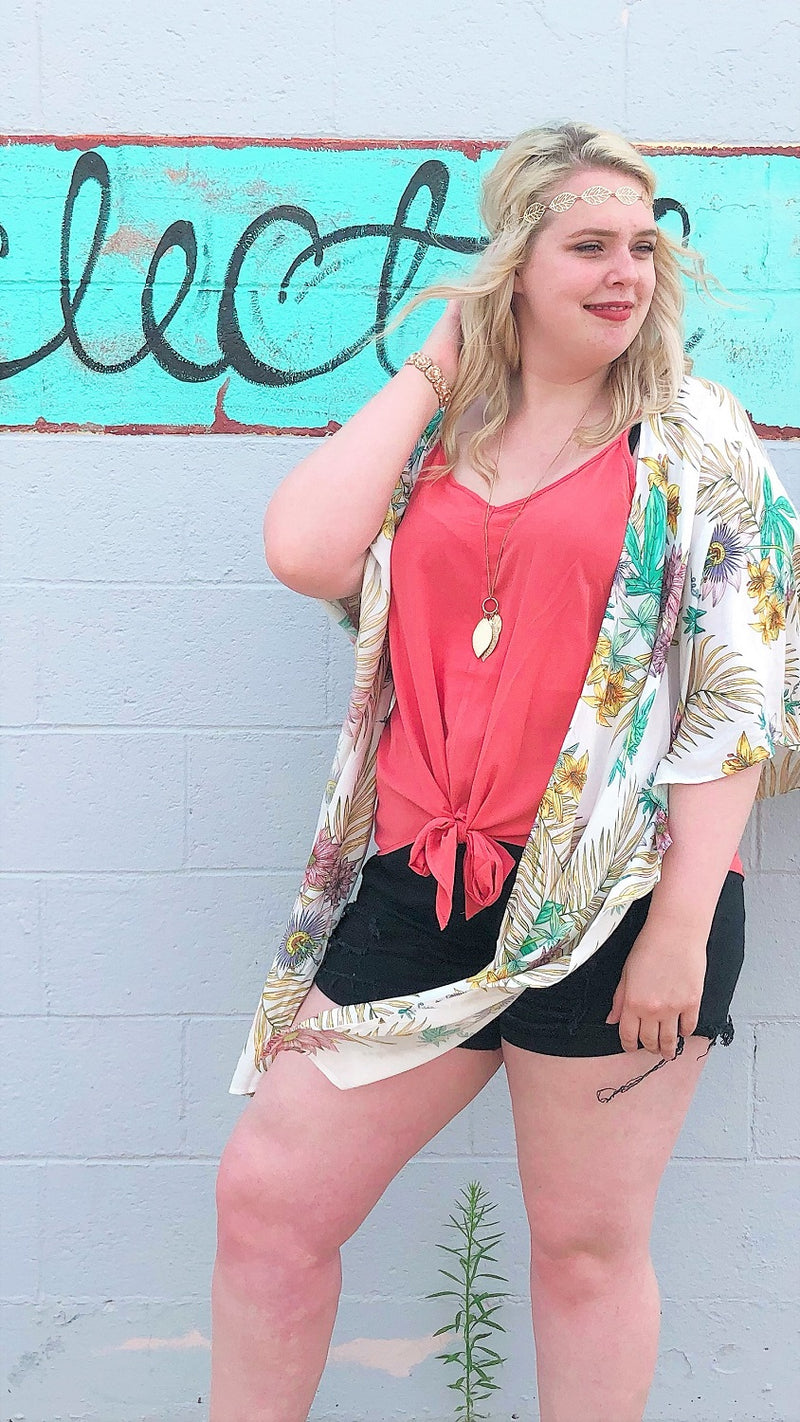 plus size coral cami