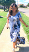 tie dye t-shirt maxi dress