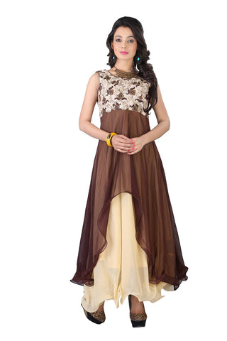 Rukhad Fashion's Coffee Cup Gown , Gown- Rukhad Fashion