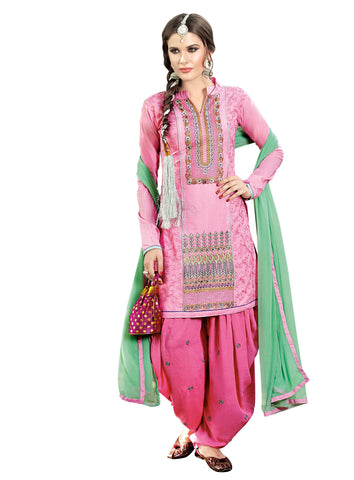 Pink Colored Cotton Cambric Suit.