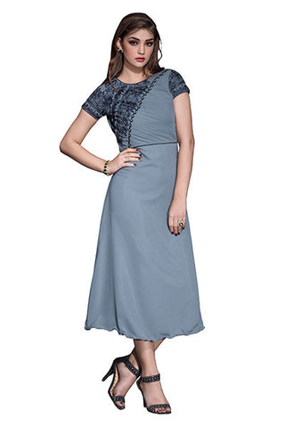 Rukhad Fashion's Georgette Grey Kurti