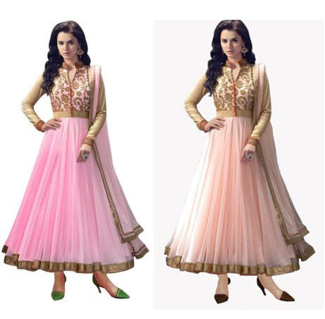 Special Pink & Peach Anarkali Combo