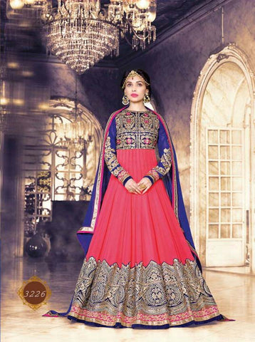 Exclusive Heavy Designer Pink Wedding Suit , anarkali- Rukhad Fashion
