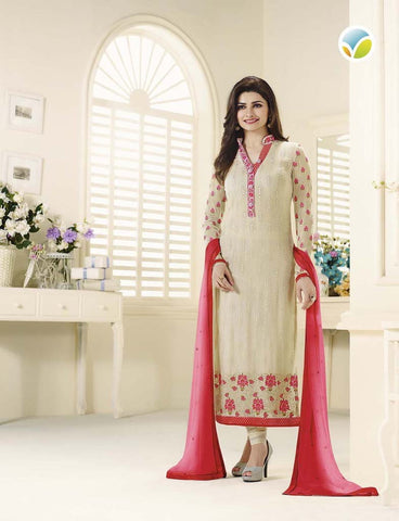 Cream Faux Georgette Designer Pakistani Salwar Suit , DRESS MATERIAL- Rukhad Fashion
