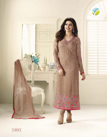Beige Faux Georgette Designer Pakistani Salwar Suit , DRESS MATERIAL- Rukhad Fashion