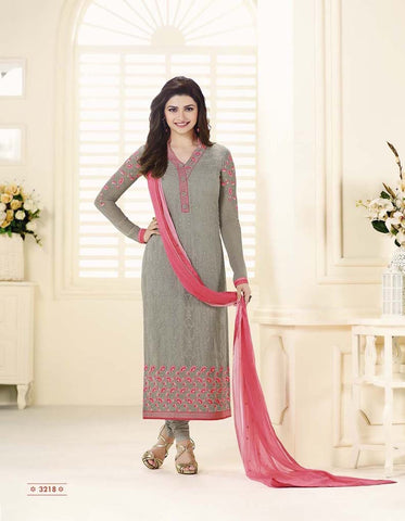 Grey Faux Georgette Designer Pakistani Salwar Suit , DRESS MATERIAL- Rukhad Fashion