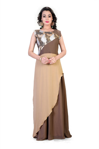Rukhad Fashion's Sequin Gown , Gown- Rukhad Fashion