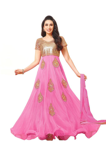 Pink Color Embroidered Anarkali suit , anarkali- Rukhad Fashion