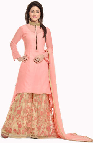 Peach & Light Orange Color Dress , DRESS MATERIAL- Rukhad Fashion