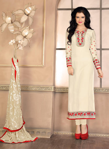 Rukhad Fashion Cream Georgette Anarkali Suit