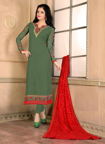 Rukhad Fashion Green Georgette Anarkali Suit