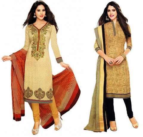 Special Combo Offer Of MultiColor Dress Material