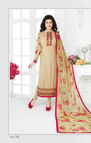 Beige Georgette Designer Pakistani Suit , DRESS MATERIAL- Rukhad Fashion