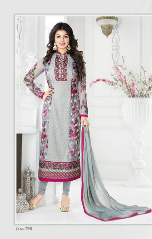 Grey Georgette Designer Pakistani Suit , DRESS MATERIAL- Rukhad Fashion