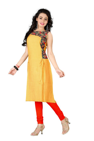 Rukhad Fashion's Golden Rayon Chanderi Jequcard Kurti