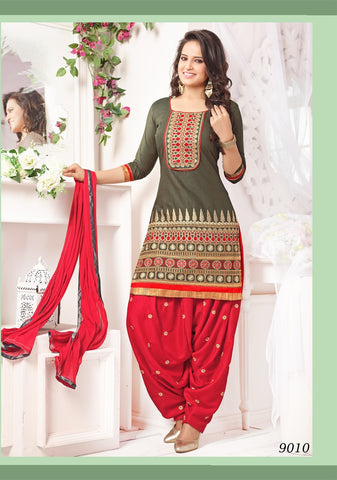 Awesome Green Cotton Patiyala Suit , Patiyala- Rukhad Fashion