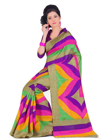 Pink Shaded Bhagalpuri Cotton Saree , Sarees- Rukhad Fashion