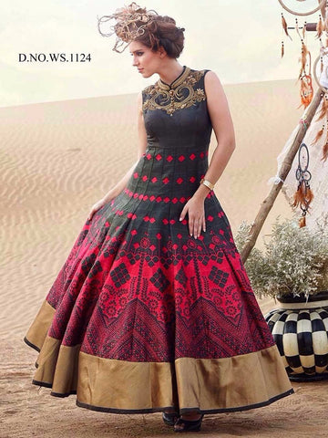 Rukhad Fashion new brown color classy  gown , Gown- Rukhad Fashion