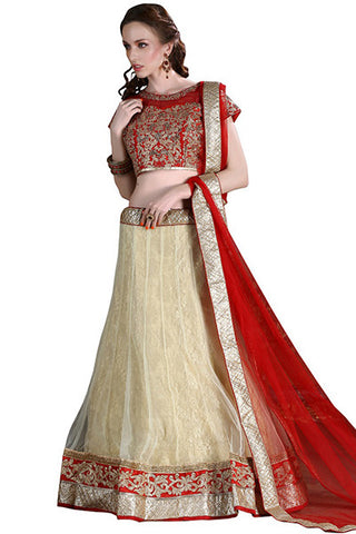 Rukhad Fashion's Designer Maroon And Cream Embroidered Lehenga , lehenga- Rukhad Fashion