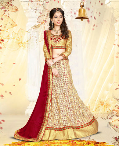 Multi Color Silk With Embroidery Work Designer Semi Stitched Lehenga Choli