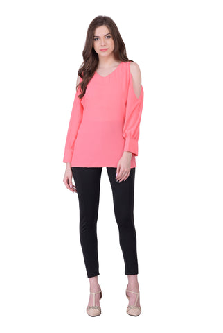 Pink Colored Georegette Top
