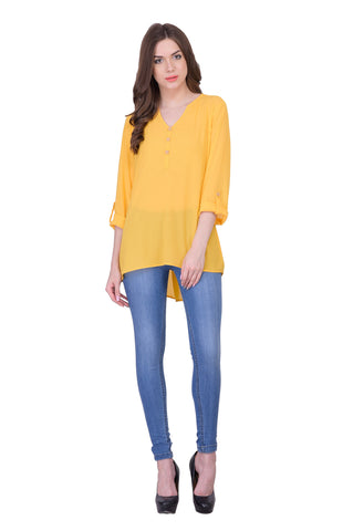 Yellow Colored Georegette Top