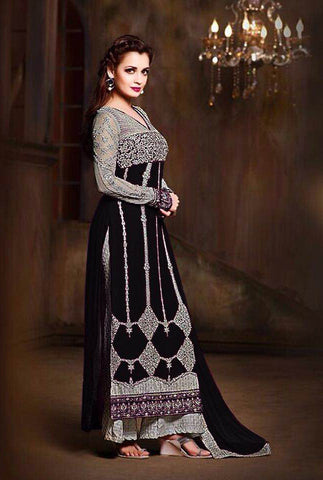 Multi Georgette Straight Pant Suit , DRESS MATERIAL- Rukhad Fashion