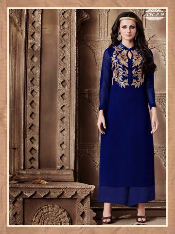 Rukhad Fashion Royal Blue  Color Anarkali Suit