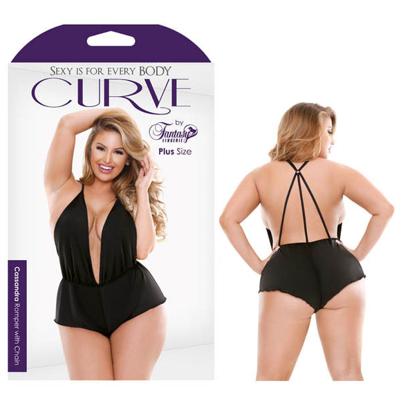 Curve Cassandra Romper with Chain