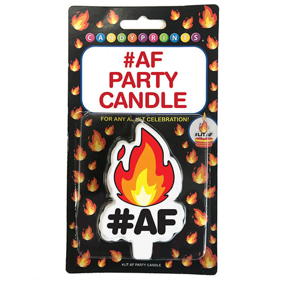 Lit #AF Party Candle