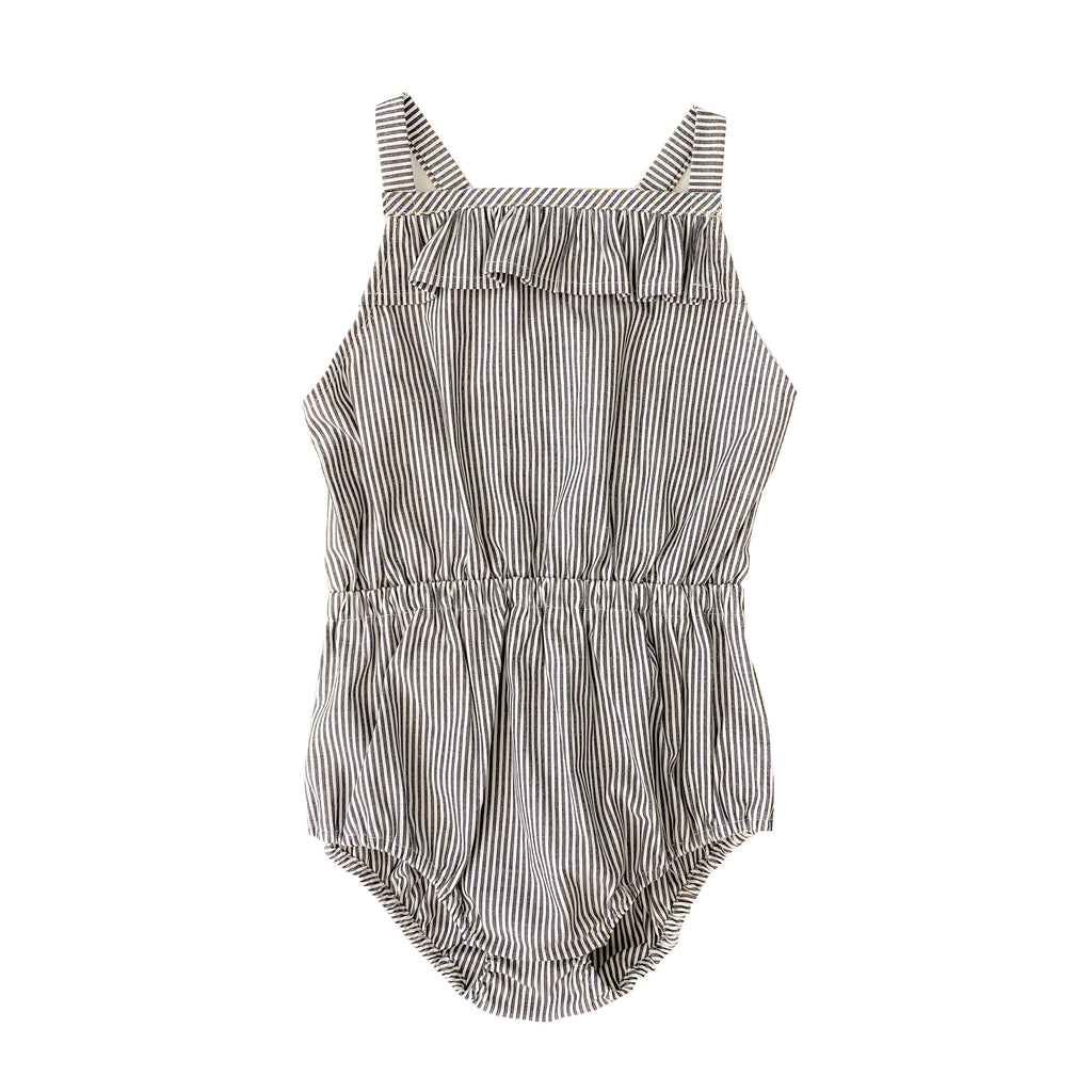 Gray Stripe Romper