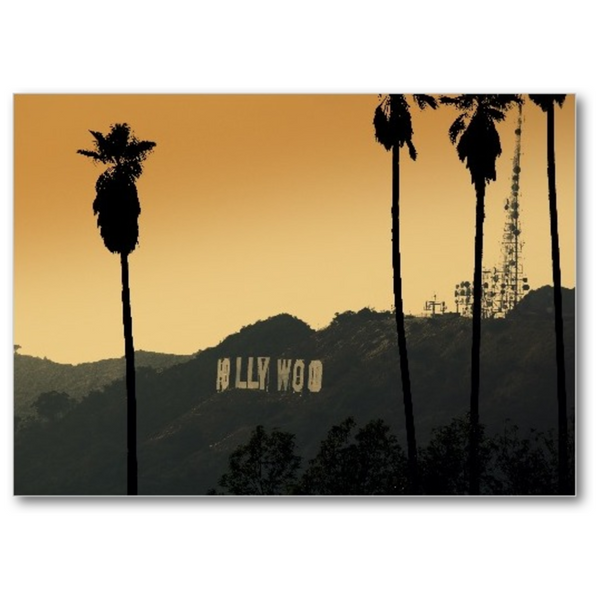 Sunset By Hollywood - 5x7 Canvas