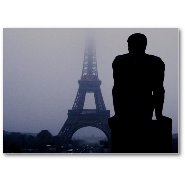 Silhouette In Paris - 5x7 Canvas
