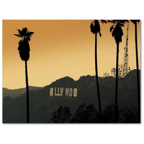 Sunset By Hollywood - 12x16 Canvas