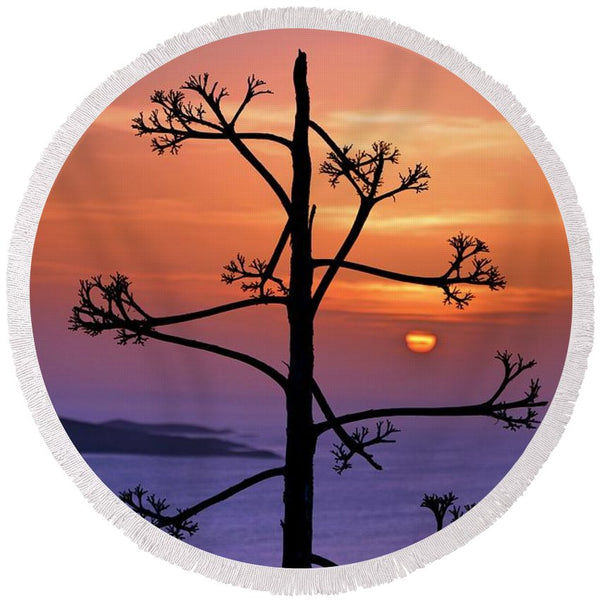 Hvar Sunset - Round Beach Towel