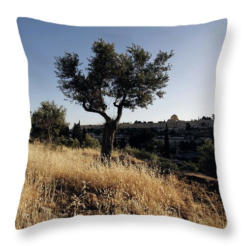 Mount Of Olives - Throw Pillow