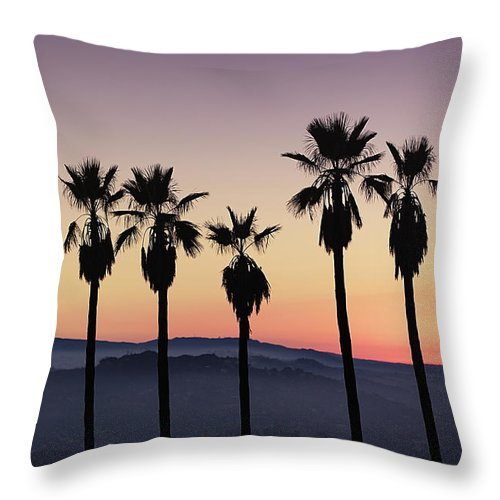 Sunset By La - Throw Pillow