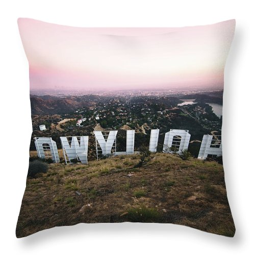 Wide Wood - Throw Pillow