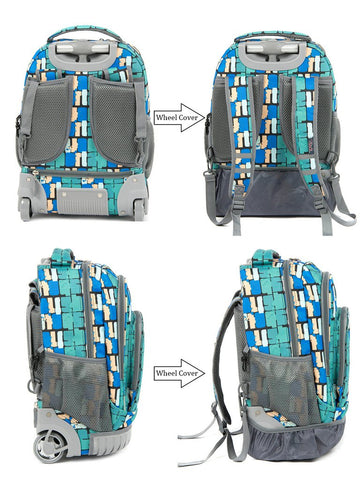 Tilami wheeled rolling backpacks for kids, trolley bags for boys