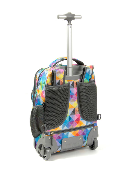 Tilami Rolling Backpack Armor Luggage School Travel Book Laptop 18 Inch Multifunction Wheeled Backpack Colorful Diamond - Tilamibag