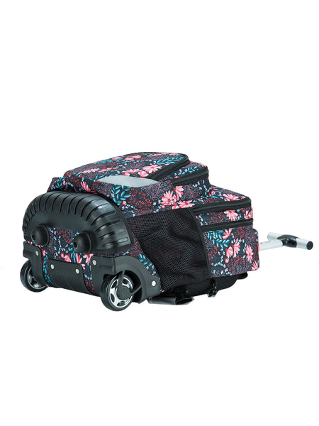 Tilami 18 Inch Boy Floral 2 Multifunction Wheeled Rolling Backpack & Picnic Cooler Bag Set - Tilamibag