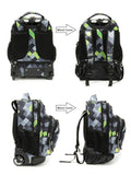 Tilami Rolling Backpack Armor Luggage School Travel Book Laptop 18 Inch Multifunction Wheeled Backpack Argyle Darkgray - Tilamibag